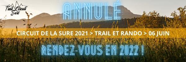 Annulation trail Circuit de la Sure Voiron
